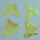 CLEARANCE 22mm Iridescent Bright Yellow  Butterfly Sequins x 35. BUY 1 GET 1 FREE